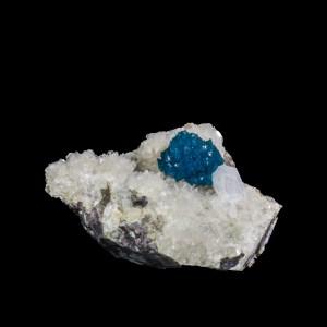 Rich Blue Cavansite with Stilbite