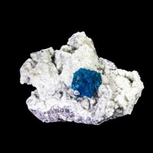 Blue Cavansite with Stilbite