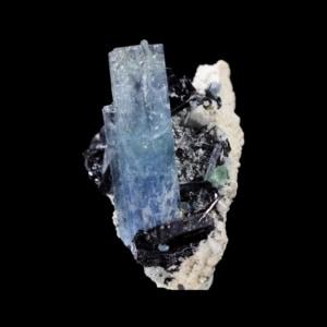 Aquamarine with Schorl Tourmaline
