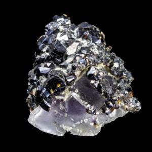 Sphalerite and Fluorite with Calcite