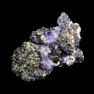 Fluorite and Sphalerite with Chalcopyrite and Barite