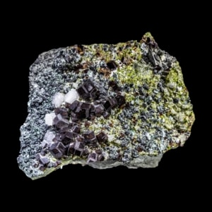 Andradite Garnet on Diopside and Calcite