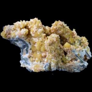 Yellow Stilbite with Pink Chabazite